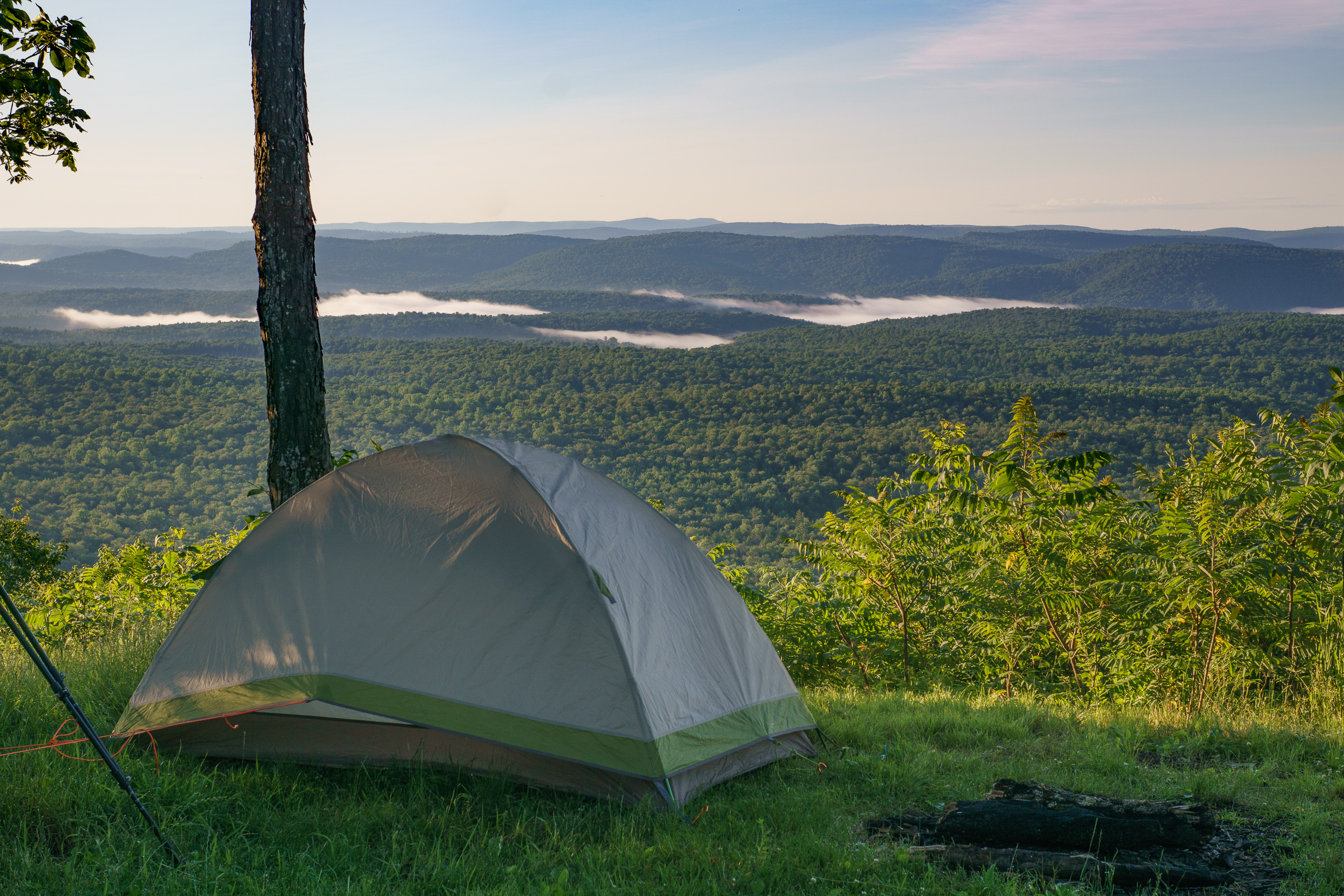 camping Sunrise over Loyalsock Forest