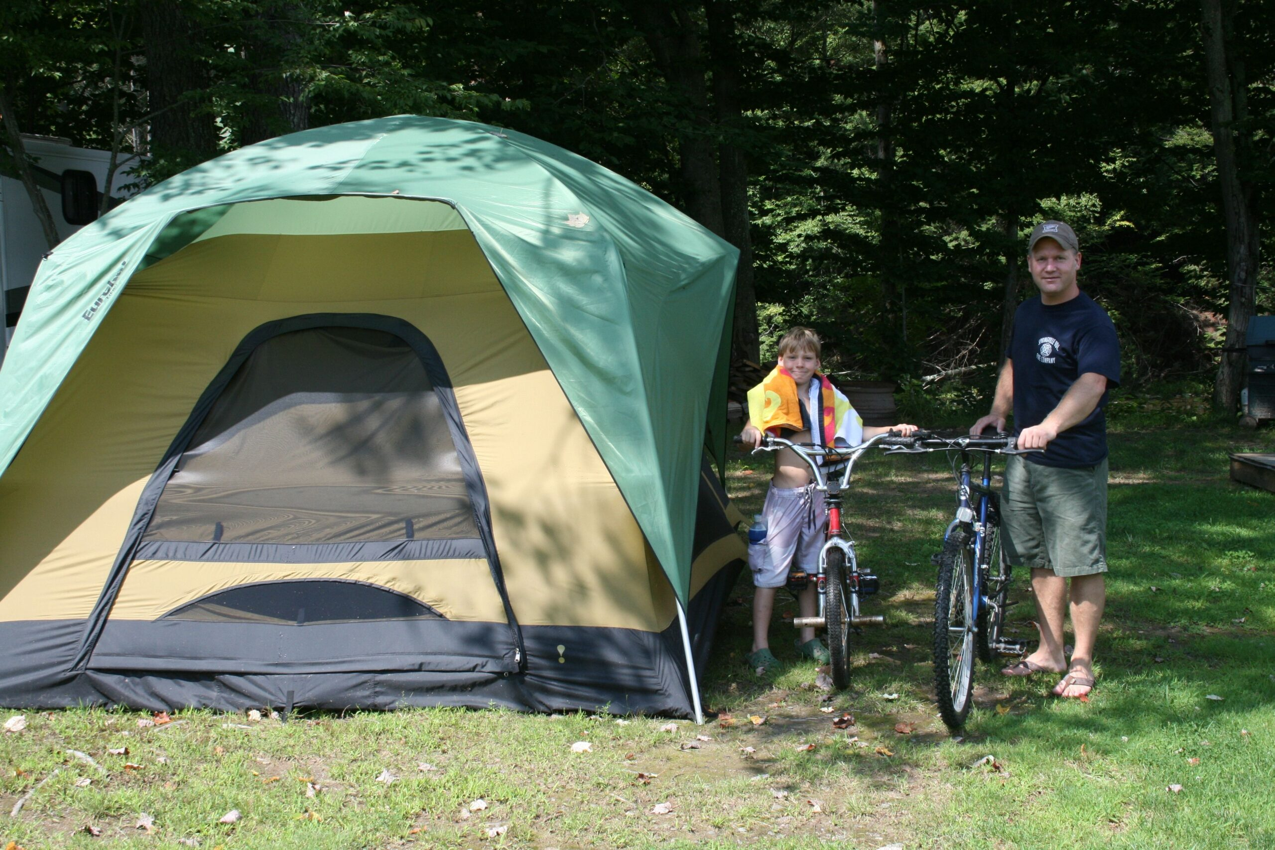 cycling outdoor family camping